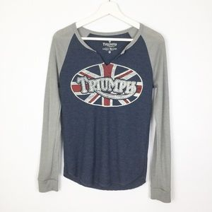 Lucky Brand Triumph British Flag Thermal Top